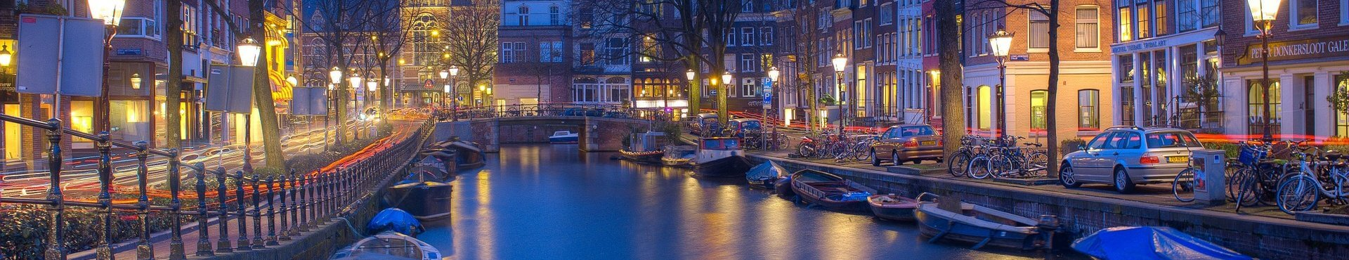 Canals Night Amsterdam