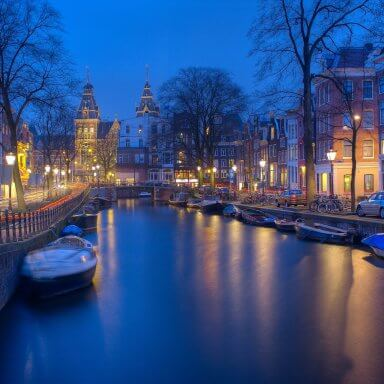 Canals Night Amsterdam