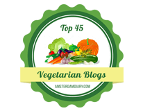 Banners for Top 45 Vegetarian Blogs