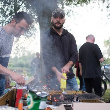 Barbeque Party in the Park