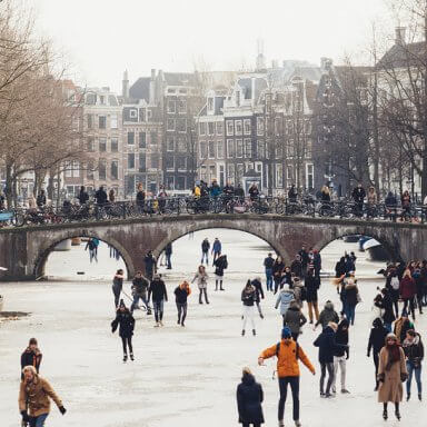 Skating in Amsterdam